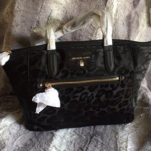Michael Kors Black Animal Print Bag
